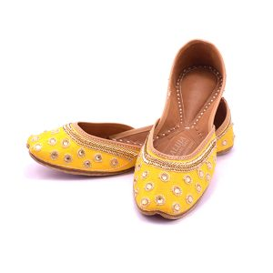 Yellow Designer Wedding Jutti