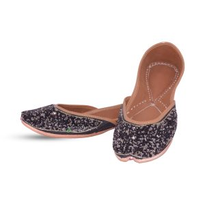 Black Punjabi Jutti For Ladies